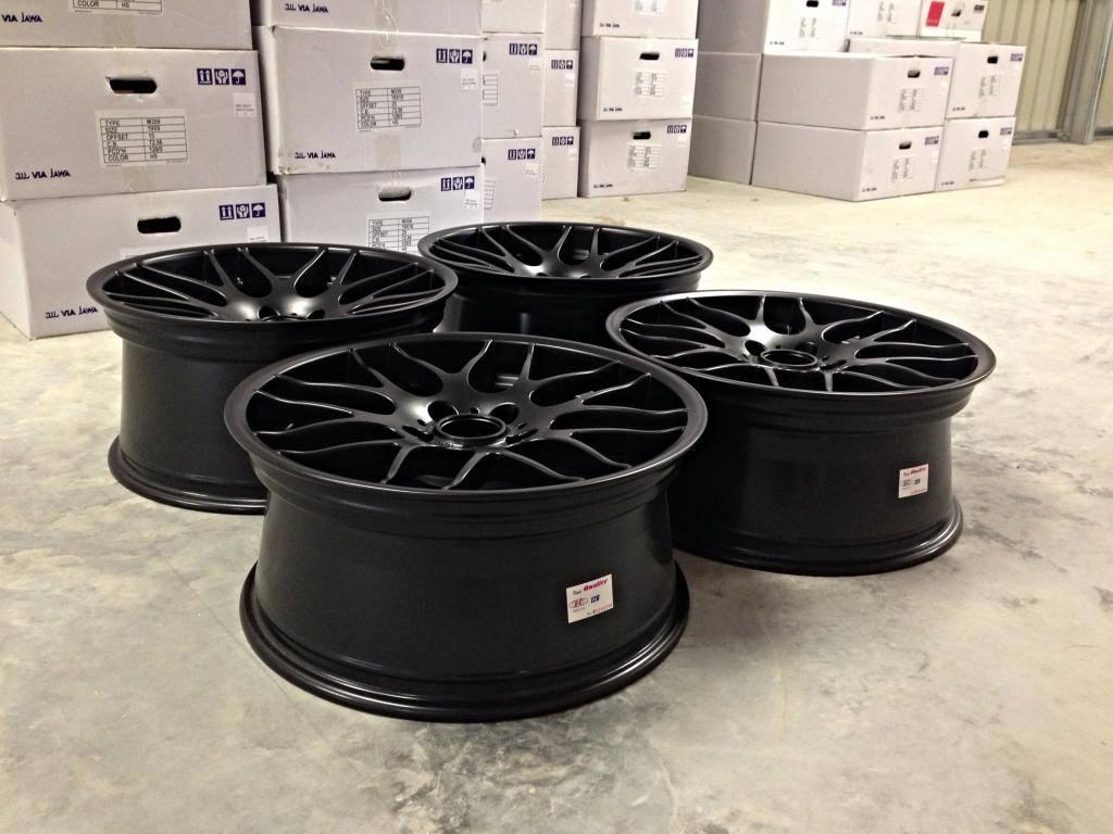 """19"""" Staggered Atomic CSL Wheels - Matt Black - E90 / E91 / E92 / E93 / E46 M3"""