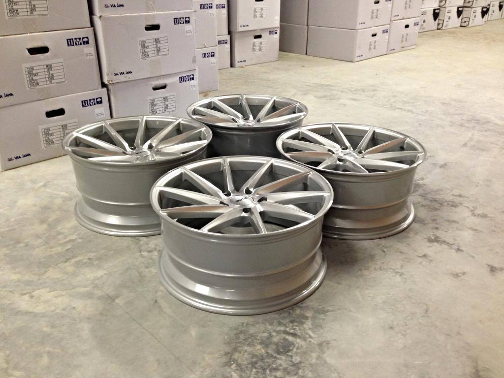 """19"""" Staggered OEMS IFG10 Directional Wheels - Silver / Machined Face - E90 / E91 / E92 / E93"""