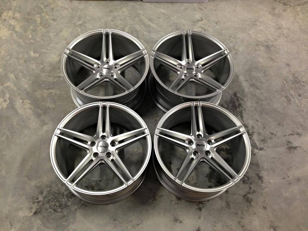 """19"""" Staggered Veemann V-FS2 Wheels - Silver / Machined Face - VW / Audi / Mercedes - 5x112"""