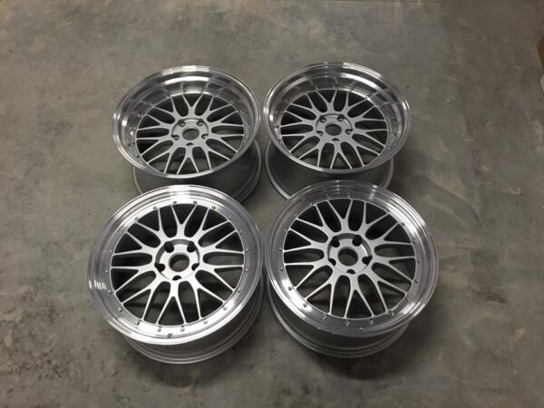 "20"" Staggered BBS LM Style Wheels - Silver / Polished Lip - 5 / 6 Series / E9x M3"
