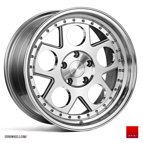 "18"" Staggered ISPIRI CSR4 Wheels - Silver Machined / Polished - E9x / E36 / E46 / F30"