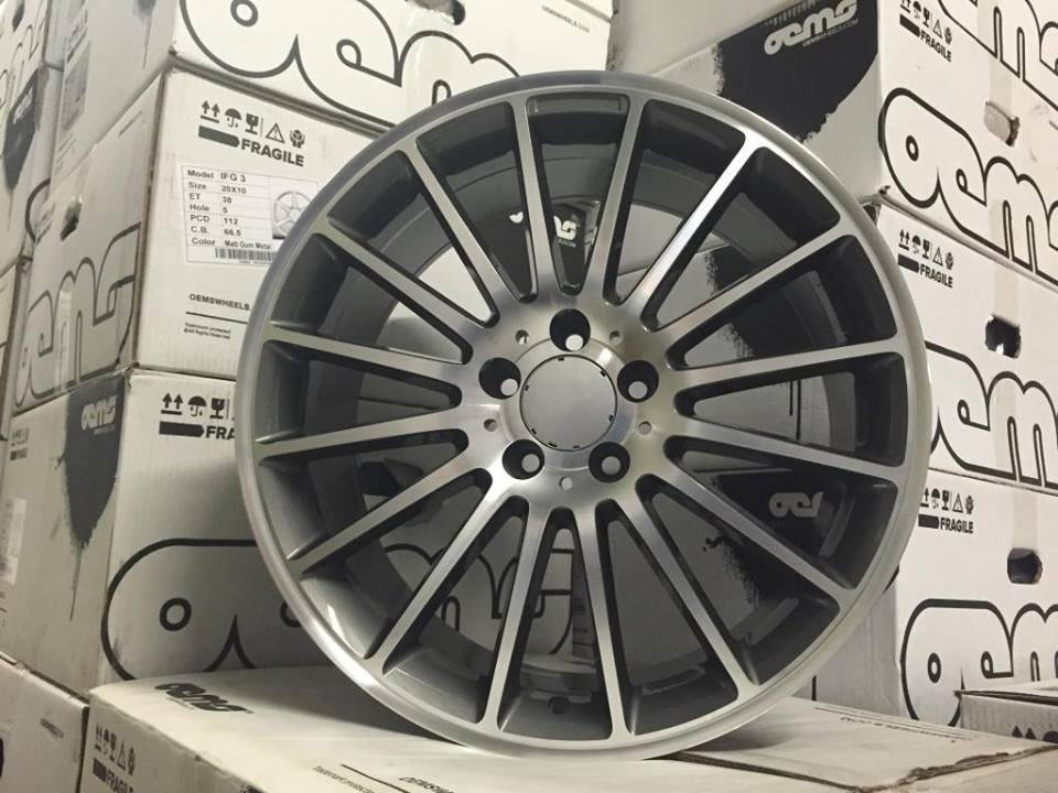 "19"" Staggered C63 AMG Style Wheels - Gun Metal / Machined - VW / Audi / Mercedes - 5x112"
