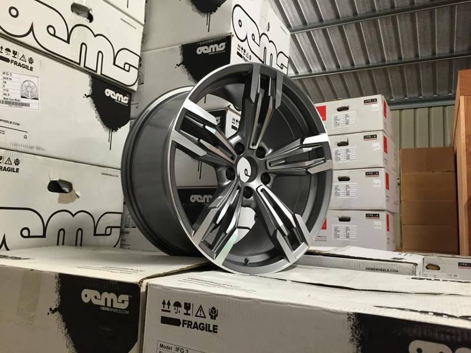 "19"" Staggered M433 M6 Gran Coupe Style Wheels - Gun Metal / Machined - E90 / E92 / F10 / F30 / E46 / Z4"