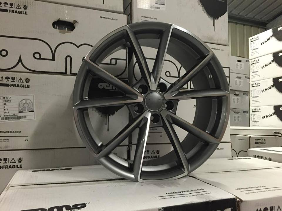 "18"" New RS4 Style Wheels - Gun Metal Machined - VW / Audi / Mercedes - 5x112"