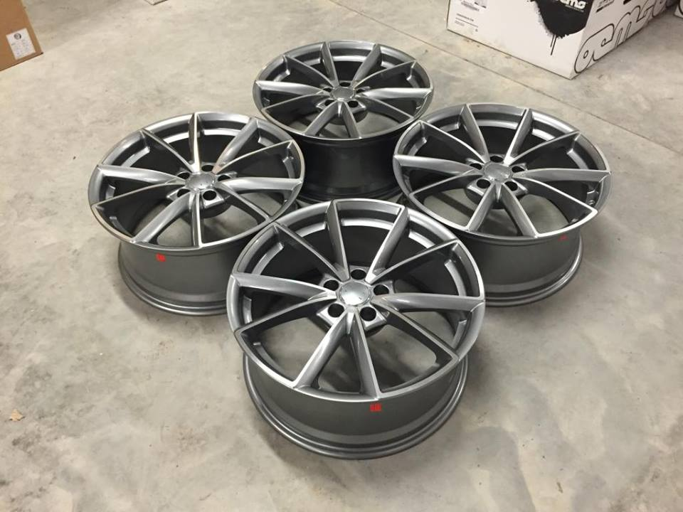 "18"" New RS4 Style Wheels - Gun Metal Machined - VW / Audi / Mercedes - 5x112"