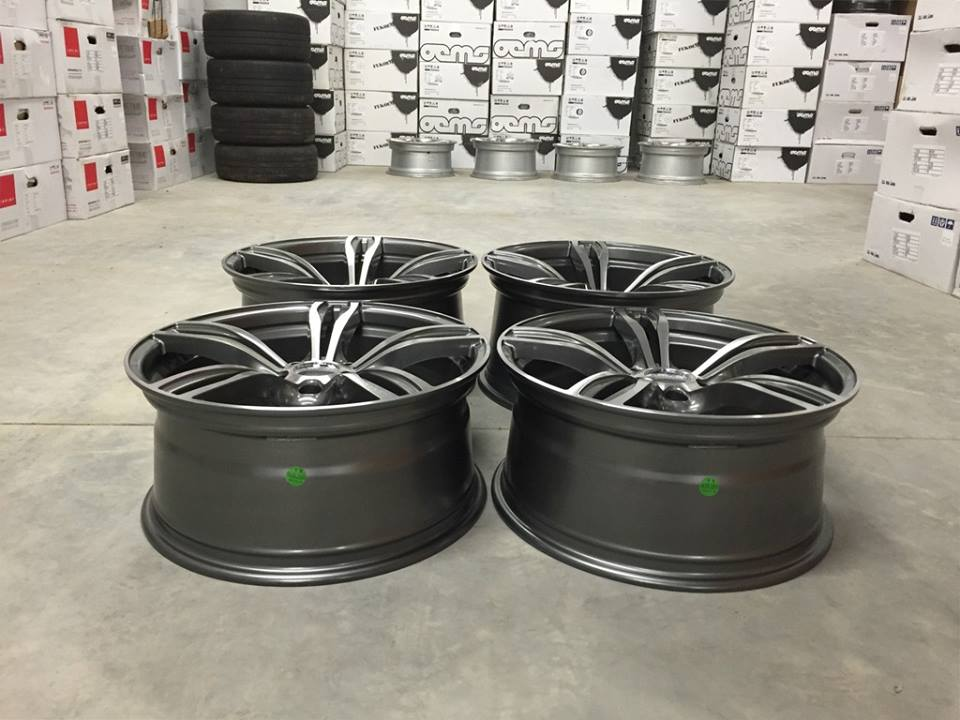 "19"" Staggered M5 F10 Style Wheels - Gun Metal / Machined Face - E90 / E91 / E92 / E93 / F10"