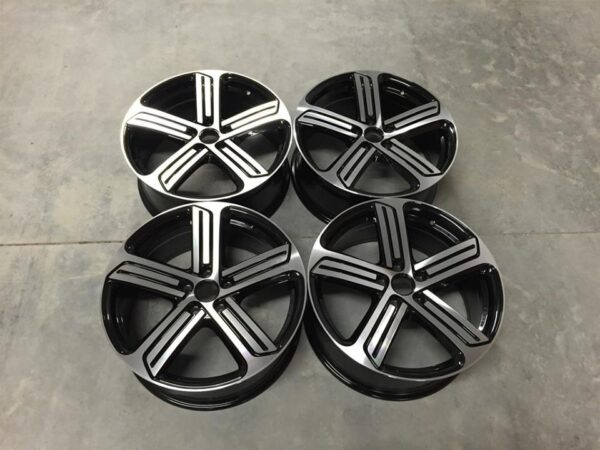 "19"" Golf R Cadiz Style Wheels - Gloss Black / Machined - VW / Audi / Mercedes - 5x112"