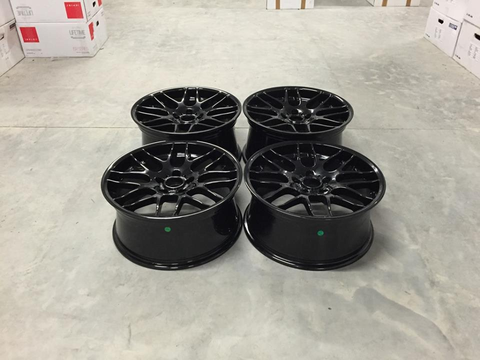 "19"" Staggered CSL Style Wheels - Gloss Black - E90 / E91 / E92 / E93 / E46 M3"