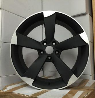 """19"""" TTRS Style Wheels - Matt Black Machined - VW / Audi / Mercedes - 5x112"""