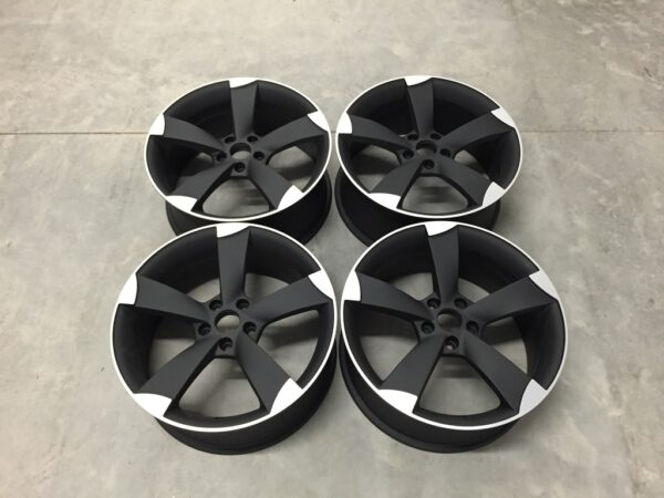 "19"" TTRS Style Wheels - Matt Black Machined - VW / Audi / Mercedes - 5x112"