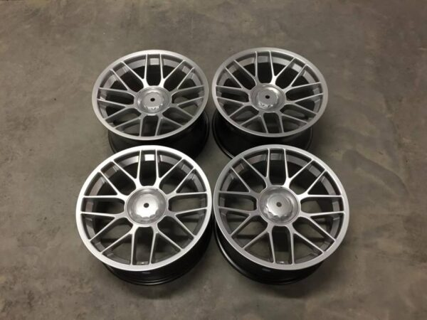 "18"" Staggered BBS RC Style Wheels - Hyper Silver - 5 / 6 / 7 Series / E9x M3 / E46 M3"