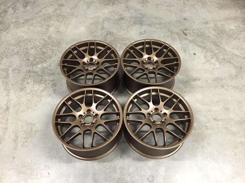 """19"""" Staggered CSL Style Wheels - Satin Bronze - E90 / E91 / E92 / E93 / E46 M3"""