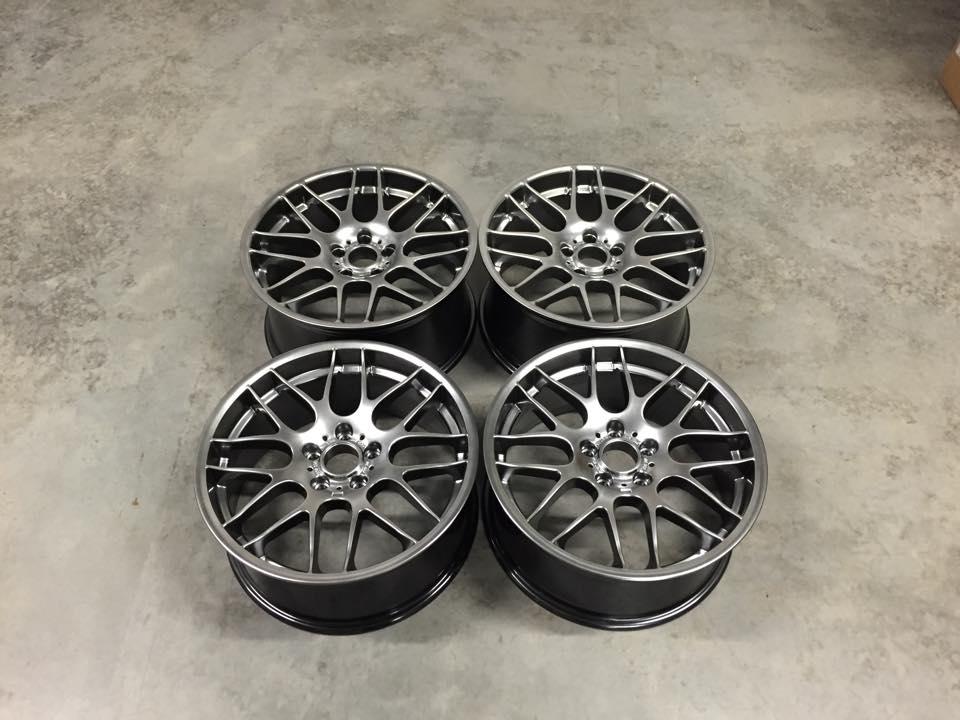 """19"""" Staggered CSL Style Wheels - Hyper Black - E90 / E92 / F10 / E46 / Z4"""