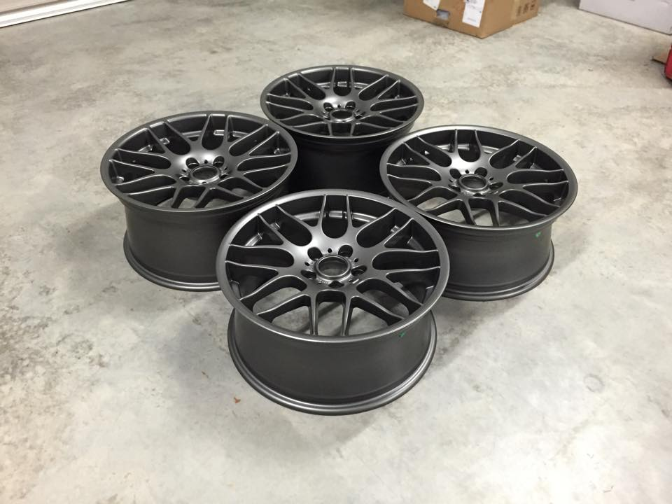 "19"" Staggered CSL Style Wheels - Satin Gun Metal - E90 / E91 / E92 / E93 / E46 M3"