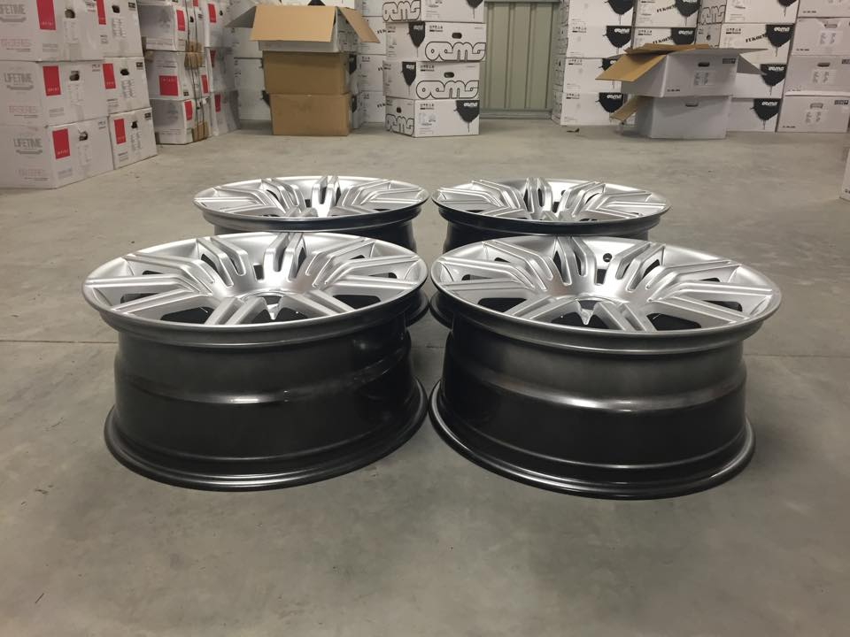 """19"""" Staggered 535 Spyder Style Wheels - Hyper Silver - 5 / 6 / 7 Series / E9x M3"""
