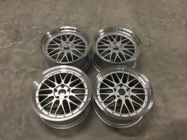 "19"" Staggered BBS LM Style Wheels - Silver / Polished - E90 / E91 / E92 / F10 / E46 / Z4"