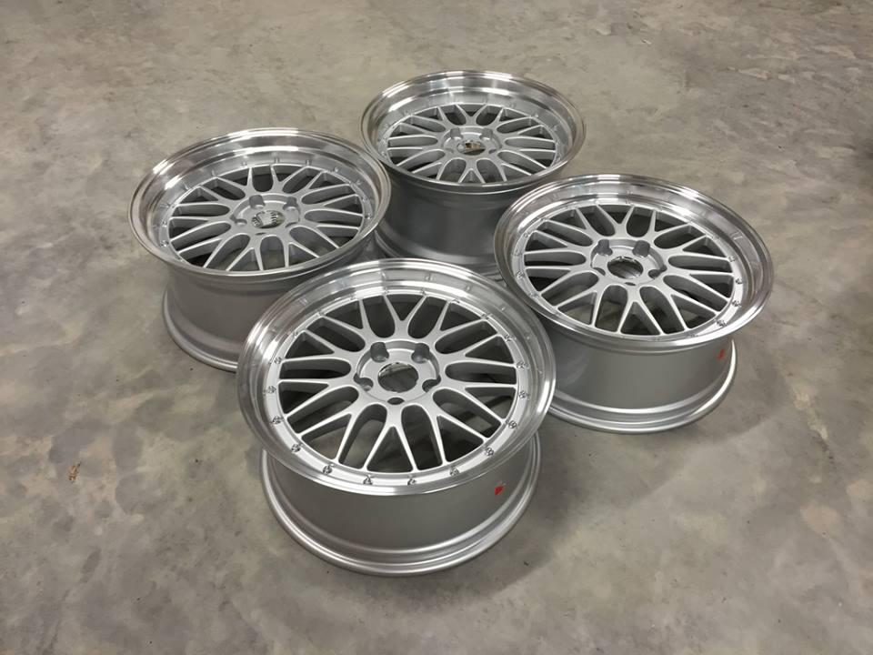 "19"" Staggered BBS LM Style Wheels - Silver / Polished - E90 / E91 / E92 / F10 / E46 / Z4"