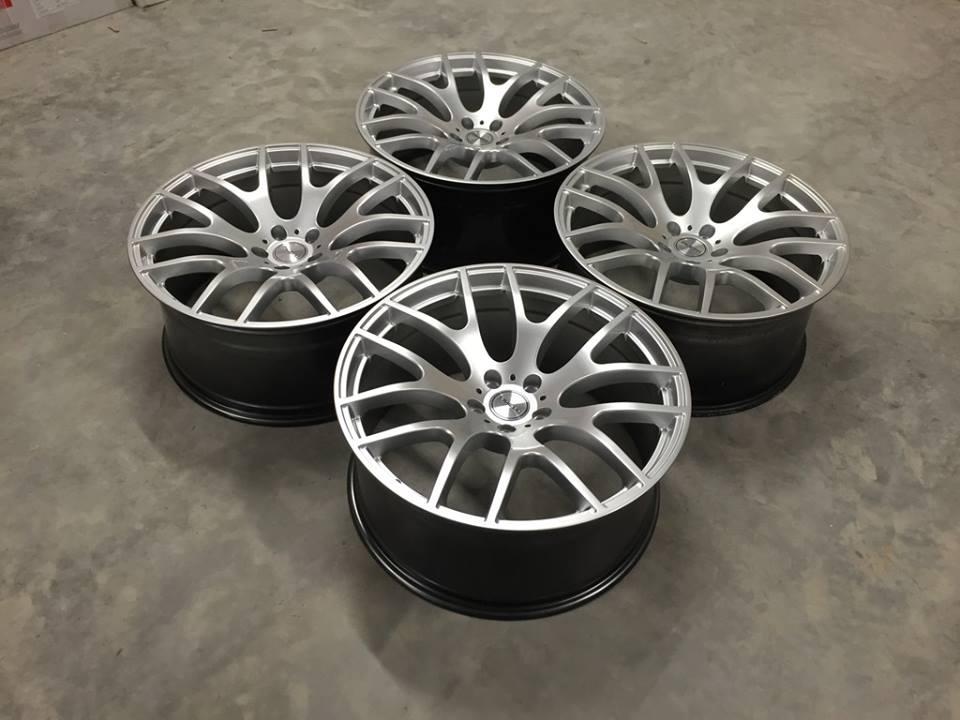 "22"" RIVIERA RV117 Onyx Wheels - Hyper Silver - X5 X6 / Range Rover Sport / VW T5"