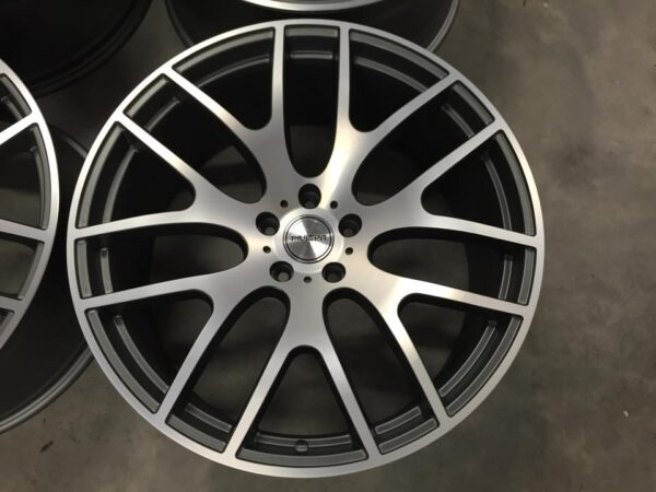 "22"" RIVIERA RV117 Onyx Wheels - Gun Metal Machined - X5 X6 / Range Rover Sport / VW T5"