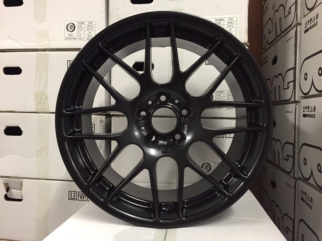 "19"" Staggered CSL Style Wheels - Satin Black - E90 / E91 / E92 / E93 / E46 M3"