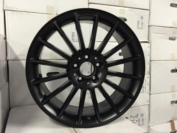 "19"" Staggered C63 AMG Style Wheels - Matt Black - VW / Audi / Mercedes - 5x112"