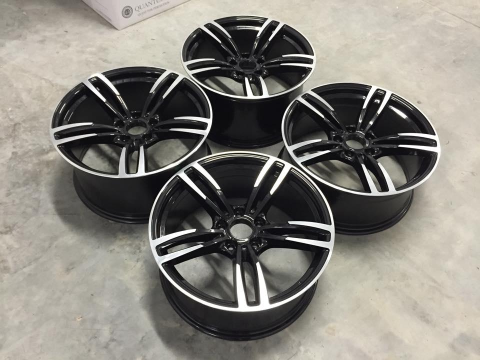 "19"" Staggered M3/M4 Style Wheels - Gloss Black / Machined - E90 / E91 / E92 / F10 / F30 / E46"