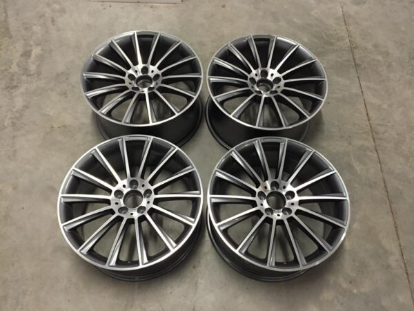 "19"" Staggered C Class AMG Twist Style Wheels - Gun Metal / Machined - VW / Audi / Mercedes - 5x112"