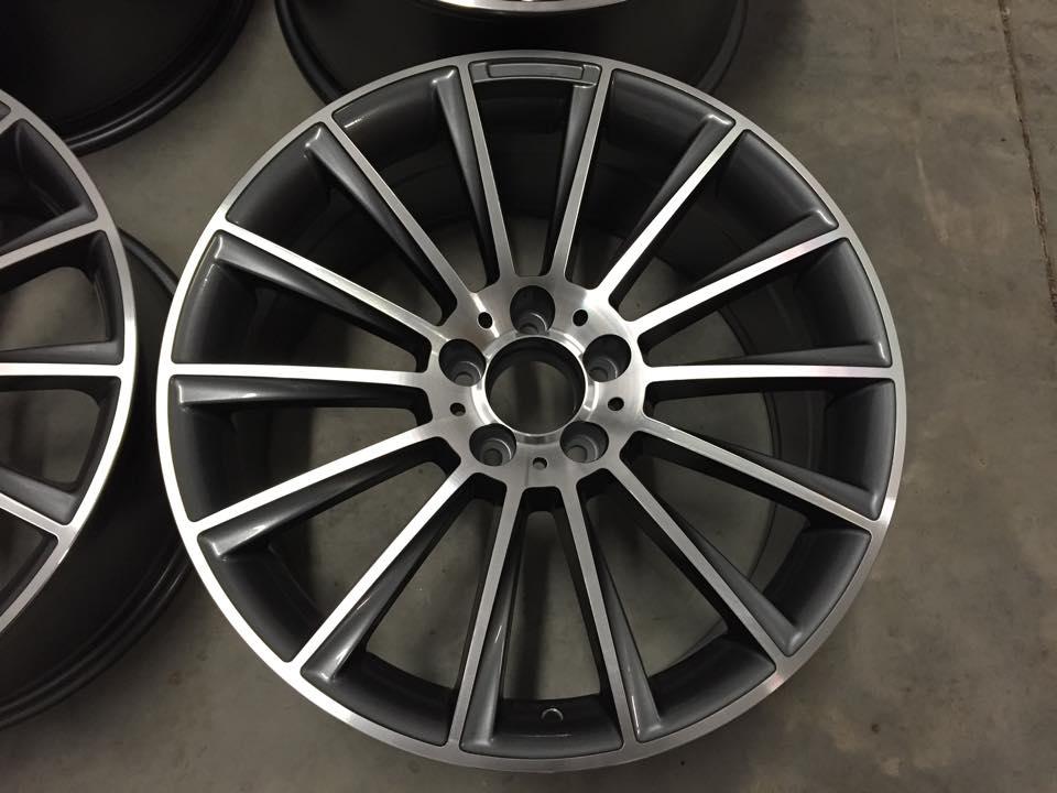 "19"" Staggered C Class AMG Twist Style Wheels - Gun Metal / Machined - VW / Audi / Mercedes - 5x112"