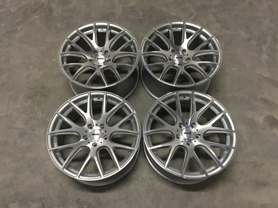 """19"""" Staggered OEMS 111 Wheels - Silver / Machine Face - E90 / E91 / E92 / E93"""