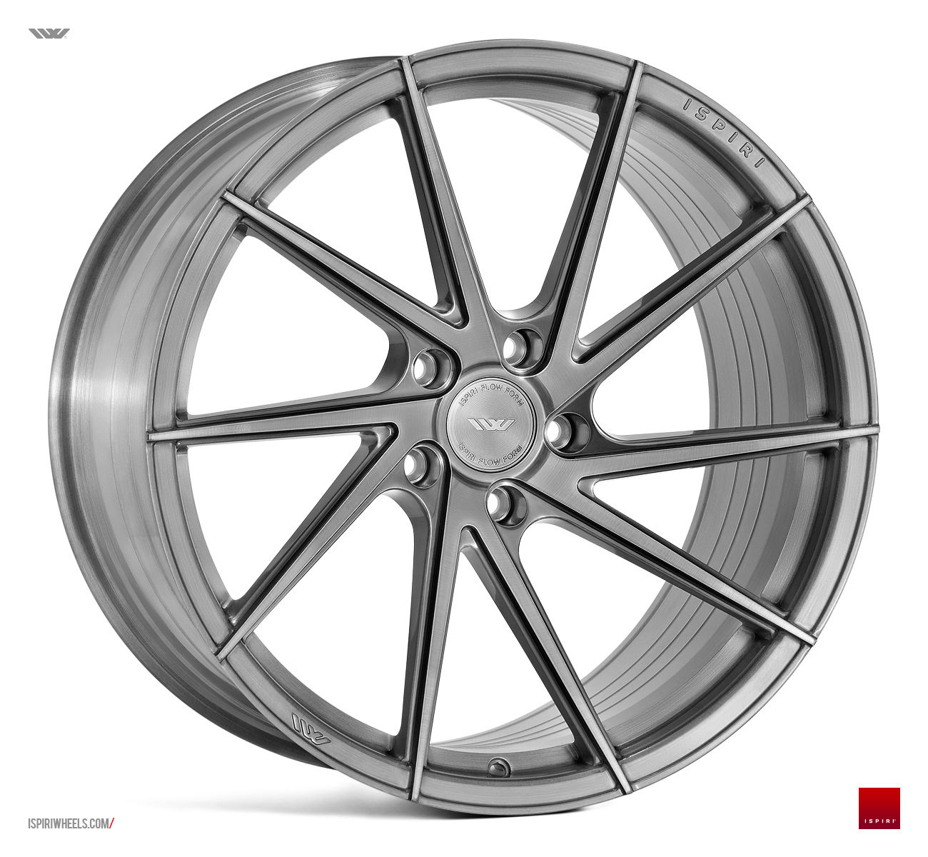 "20"" ISPIRI FFR1D Wheels - Full Brushed Carbon Titanium - VW / Audi / Mercedes - 5x112"