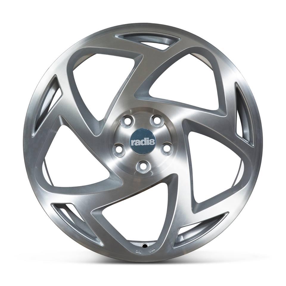 """18"""" Radi8 R8-S5 Wheels - Matt Silver Machined - VW / Audi - 5x100"""