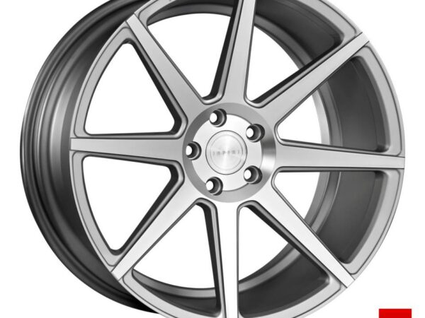 "19"" Staggered ISPIRI ISR8 Wheels - Satin Silver - VW / Audi / Mercedes - 5x112"