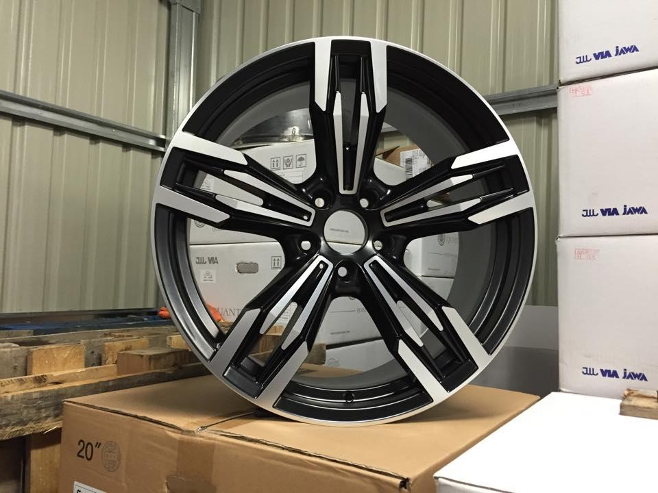 """20"""" Staggered M433 M6 Gran Coupe Style Wheels - Gloss Black Machined - E90 / E91 / E92 / E93 / F10"""