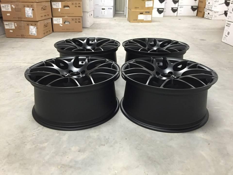 """19"""" Staggered Fox MS007 Wheels - Matt Black - E90 / E91 / E92 / E93 / F10 / F30"""