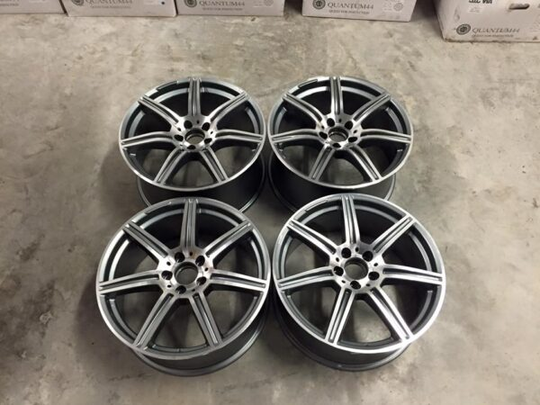 "19"" Staggered SLS AMG Style Wheels - Gun Metal / Machined - VW / Audi / Mercedes - 5x112"