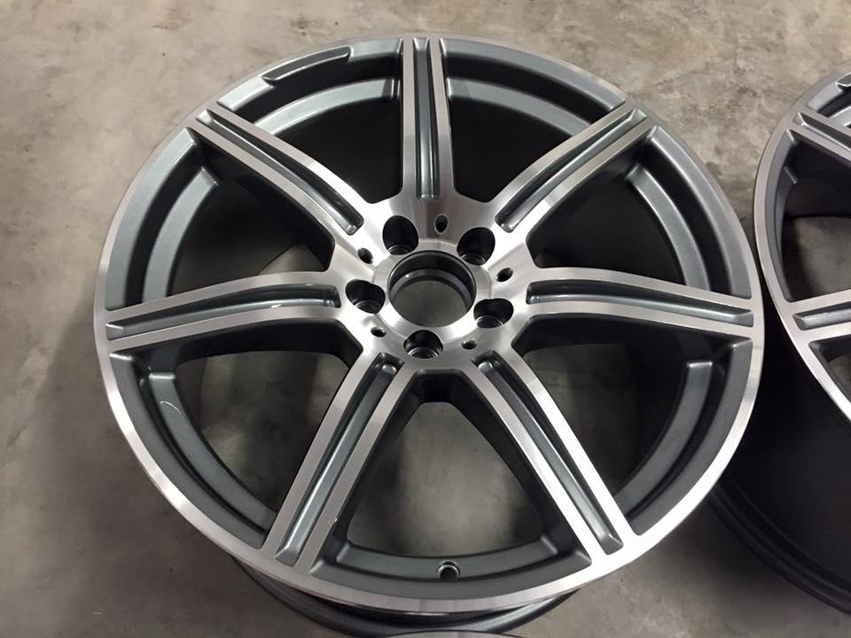 "19"" Staggered SLS AMG Style Wheels - Gun Metal / Machined - VW / Audi / Mercedes - 5x112"
