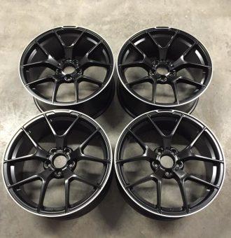 "19"" Staggered C63 AMG 507 Performance Style Wheels - Satin Black / Machined Lip - VW / Audi / Mercedes - 5x112"
