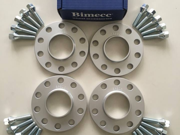 4 x 12mm BIMECC Silver Wheel Spacers - Silver Bolts