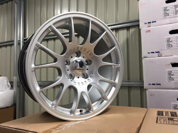 """18"""" Staggered BBS CH Style Wheels - Hyper Silver - E90 / E91 / E92 / E93 / F10 / F11 / F30 / E46"""