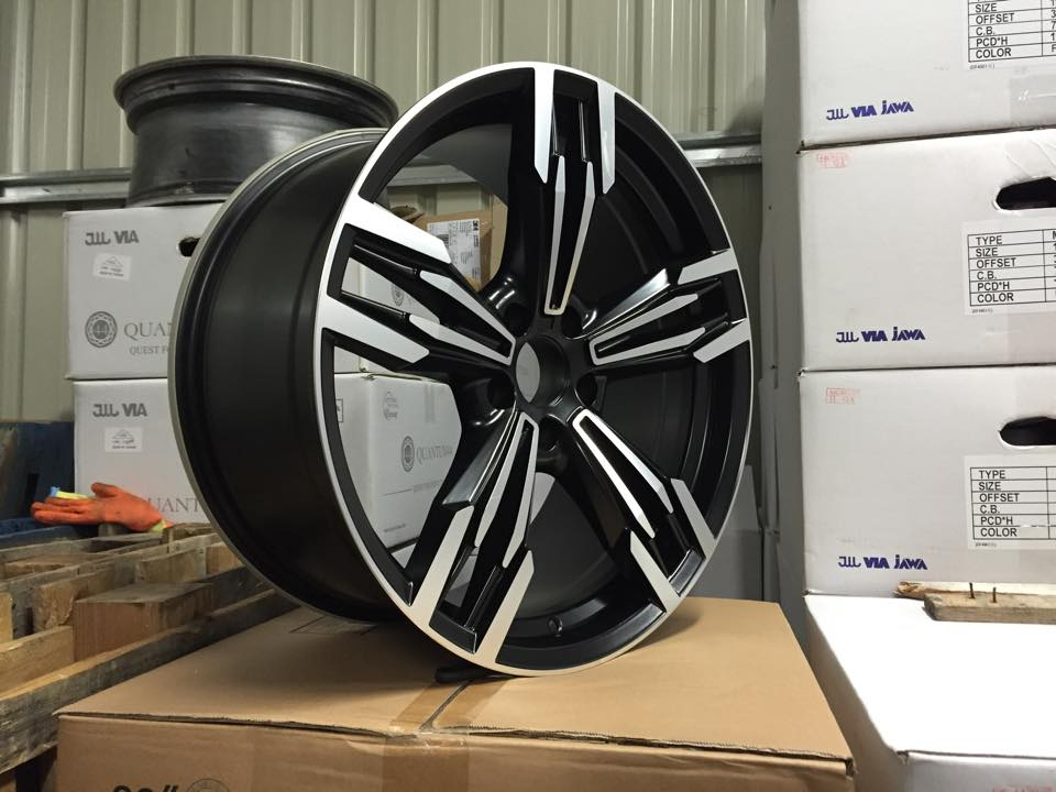 "19"" Staggered M433 M6 Gran Coupe Style Wheels - Gloss Black / Machined - E90 / E91 / E92 / E93 / F10"