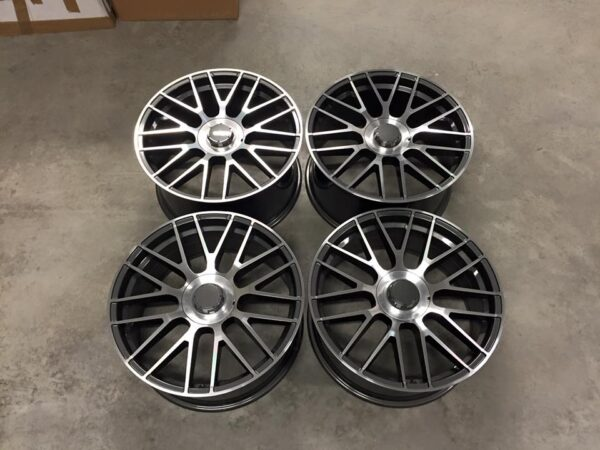 "19"" Staggered 2016 C63 AMG S Style Wheels - Gun Metal / Machined - VW / Audi / Mercedes - 5x112"