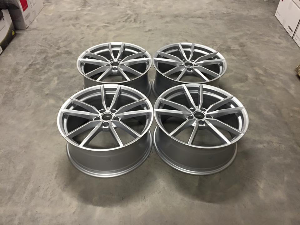 "19"" VW Golf R Pretoria Style Wheels - Hyper Silver - VW / Audi - 5x112"