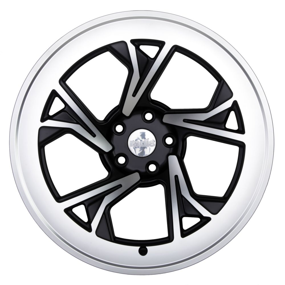 "18"" Radi8 R8-C5 Wheels - Gloss Black Machined - VW / Audi / Mercedes - 5x112"