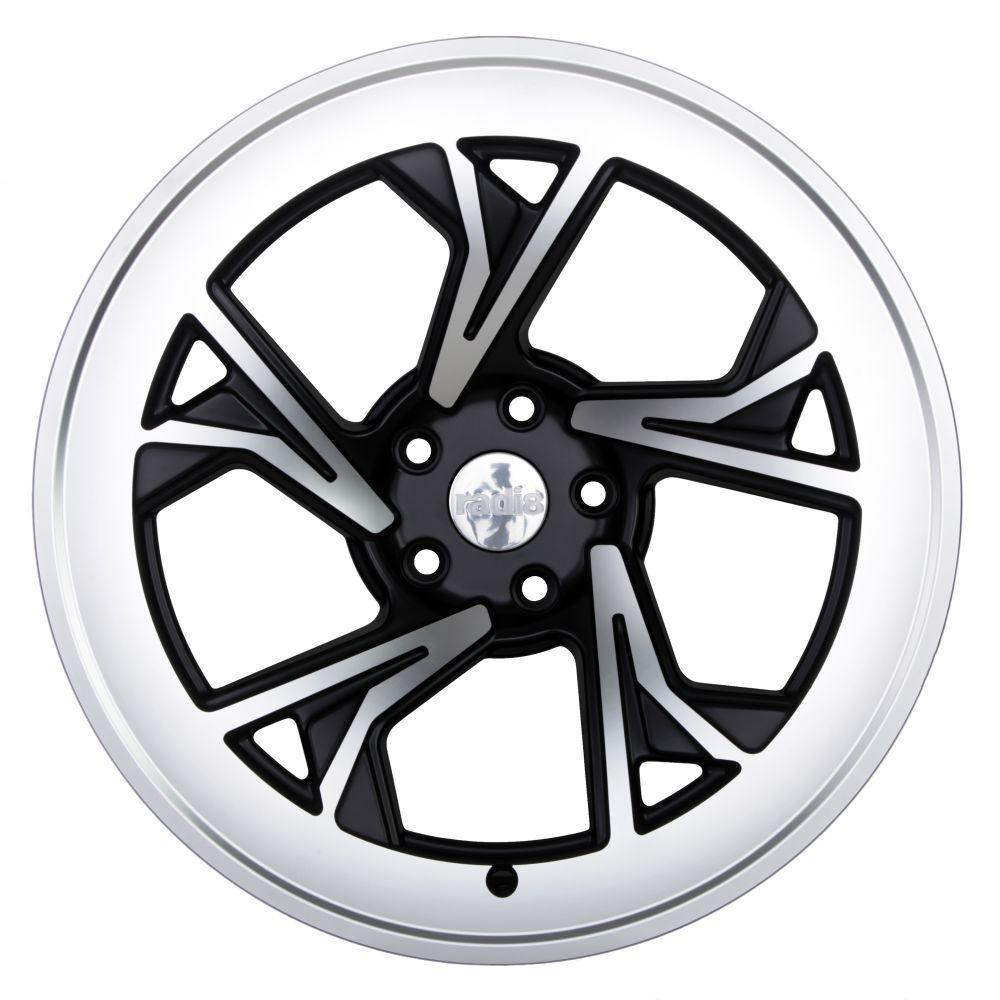 "19"" Radi8 R8-C5 Wheels - Gloss Black Machined - VW / Audi - 5x100"