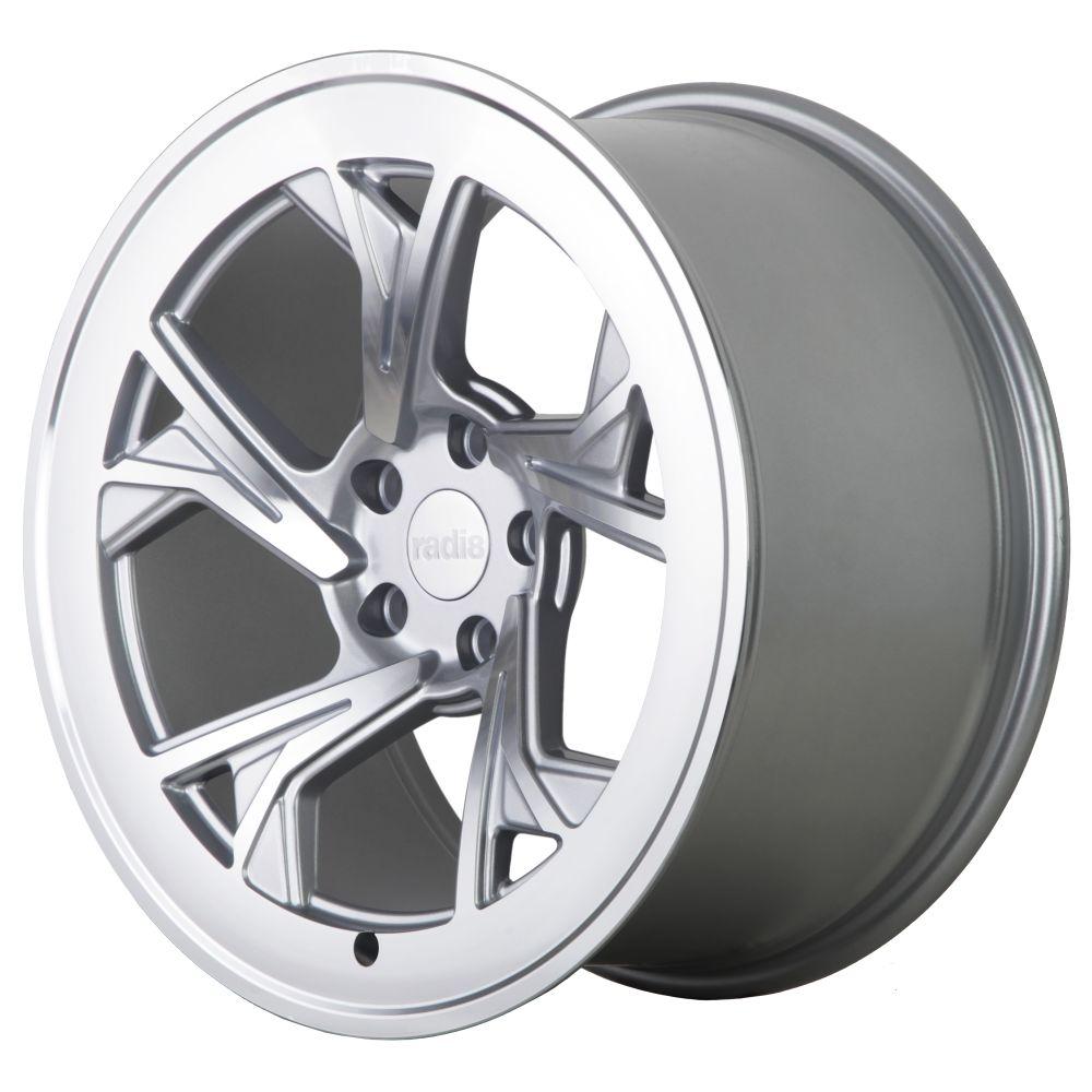 """18"""" Radi8 R8-C5 Wheels - Matt Silver Machined - VW / Audi / Mercedes - 5x112"""