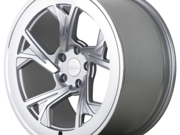 """19"""" Radi8 R8-C5 Wheels - Matt Silver Machined - VW / Audi / Mercedes - 5x112"""