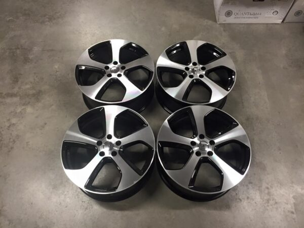 "19"" Golf GTi Austin Style Wheels - Gloss Black / Machined - VW / Audi / Mercedes - 5x112"