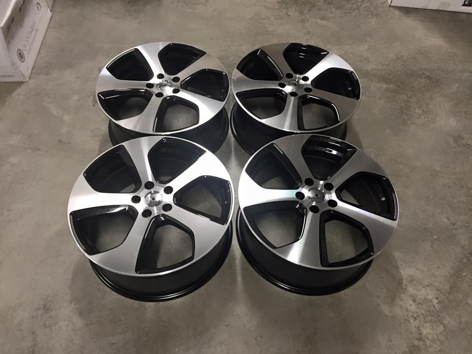"19"" Golf GTi Austin Style Wheels - Gloss Black / Machined - VW / Audi / Mercedes - 5x112"