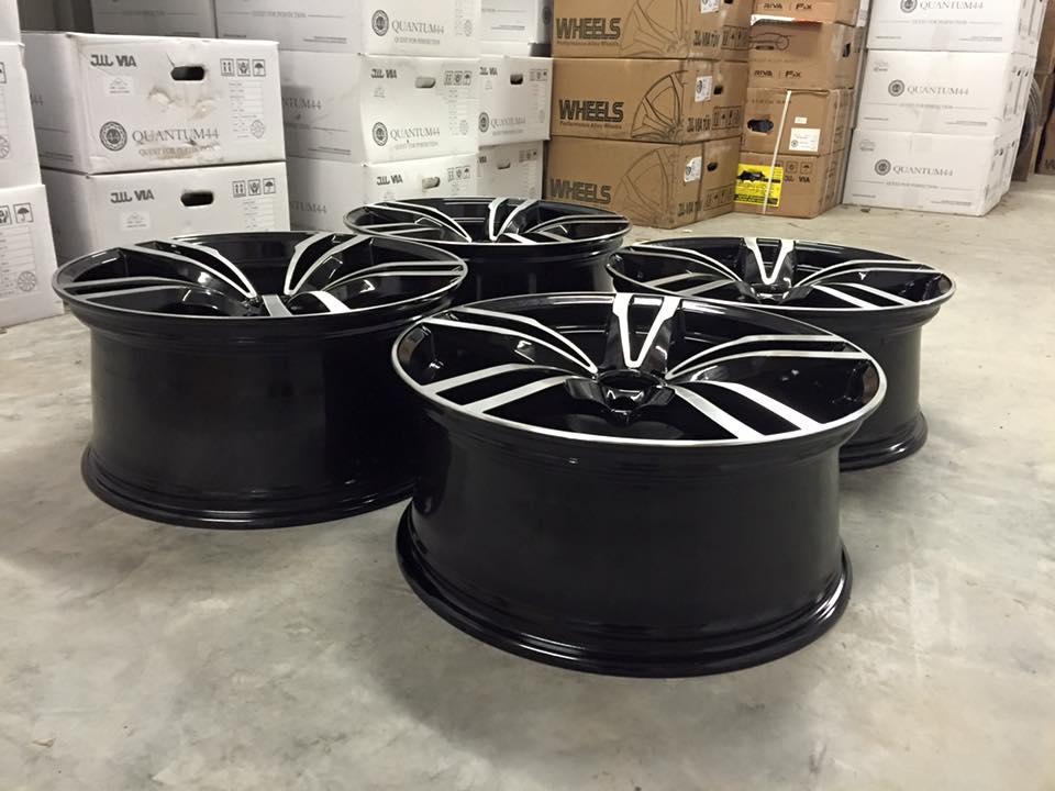 """20"""" Staggered M3/M4 Concept Style Wheels - Gloss Black Machined - E90 / E91 / E92 / E93 / F10"""