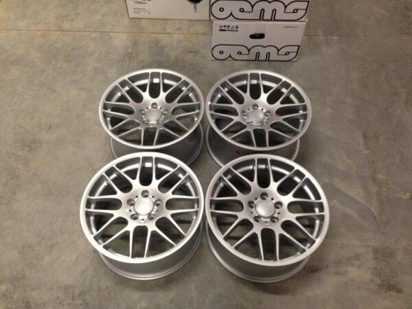 """19"""" Staggered CSL Style Wheels - Silver - E90 / E91 / E92 / E93 / E46 M3"""